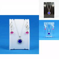 Wholesale Plastic Necklace Earring Set Display Stand Holder