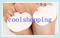 Wholesale DHL Freeshipping pairs Foot Care Insoles Forefoot Silicone Insoles Forefoot Pain Relief Massaging Gel Metatarsal Toe Support Pads