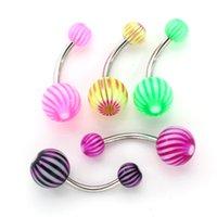 bell earrings sale - Piercing Hot Sale Fashion G Stainless Steel Acrylic Body Piercing Jewelry Helix Earring Belly Piercing Navel Ring