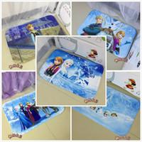 Wholesale 2015 new colors frozen Carpets mat Bathroom Coral velvet mats super absorbent doormat Elsa anna carpet Romance cartoon non slip mat