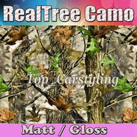auto body skins - New Matte Realtree Camo Vinyl wrap real tree leaf camouflage Mossy Oak Car wrap Film foil for vehicle graphic Auto skin foil x99ft
