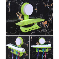 Wholesale Practical Toothbrush Suction Cup Hooks Wall Fixed Free Standing Holder