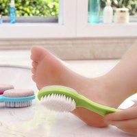 Wholesale Multi sided natural exfoliating foot rub brush foot stone grinding brush