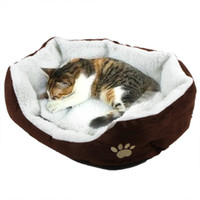 Wholesale Puppy Cat Soft Pets Beds Fleece Warm House pet mats H8588