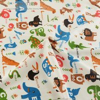 animal quilting fabric - 1 meter quot animal zoo quot Cotton Fabric for baby bedding set patchwork quilting twill tilda tecido cloth by meter cmx100cm