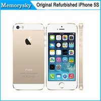 Wholesale Original Factory Unlocked apple iphone s phone GB ROM IOS White Black Gold GPS GPRS A7 IPS LTE Refurbished Cell Phone DHL shipping