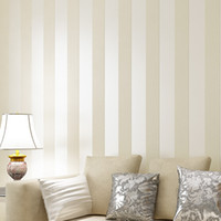 asia the band - The Newest Simple Style Glitter Stripe Circles Wallpaper for walls Cream Beige brown Wide Band Stripe Prepasted Wallpaper Wall Covering