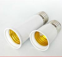Wholesale 10pcs Authentic E27 lengthen E27 lamp holder Extended mouth conversion socket Edison light bulb joint to extend the lamp holde