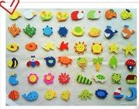 al por mayor lana de madera barata-Los animales baratos de las etiquetas engomadas del refrigerador de la historieta de las lanas del yakuchinone del juguete del bebé de los imanes del refrigerador de 120pcs / lot liberan el envío
