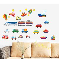 baby airplane decor - airplane car auto bus train boats kids baby comic TC1112 nersery bedroom removable DIY door Home Decor Decals vinyl Wall Sticker