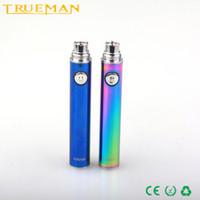 rainbow vacuum - TRUEMAN Evod USB Passthrouth Battery Rainbow Color mAh mAh mAh Vacuum Coating HAHA Battery pin E Cig