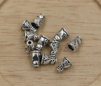 Cheap Hot ! Antiqued Silver Nice Craft seed Bead Caps 10x7mm (ab686)