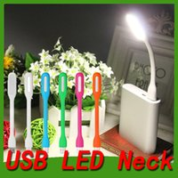 Wholesale Ultra Bright W LED USB Lamp Light Portable Flexible Led Lamp for Notebook Laptop work Tablet PC USB Power foldable