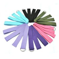 Wholesale New Yoga Stretch Strap D Ring Belt Waist Leg Fitness CM Adjustable