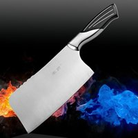 beef chops - Stainless steel professional chop bone chef knives to cut slices of beef bone tool kitchen accessories Chinese style hot knife