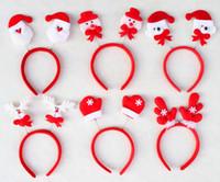 Presentes de Natal Promoção quente Toy Natal Cabelo Hoop Papai Noel Boneco de neve Cerveja dos cervos Headband Decoração de Natal