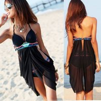 plus size swimwear - S New Women Halter Tankini Swimsuit Retro Beach Swimdress Plus Size Swimwear