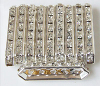 bead making materials - Crystal Rhinestone spacer bars silver plated beads bracelets earrings necklace jewelry making connect material findings composant
