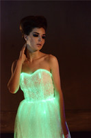 Wholesale luminous womens cocktail dresses party dancewear light up dresses for party led dress creative new year gift