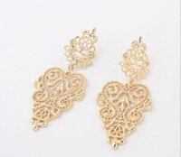 beautiful metal plates - Bohemia Vintage Alloy Metal joker hollow out earrings Beautiful Jewelry fashion earrings for women LXE01