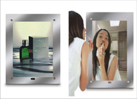 advertising poster sizes - Magic mirror sensing crystal led light box illuminated LED signs poster frame advertise dsiplay stand signage A3 size A3 A1