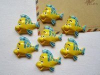flounder fish - Min order is mix order The Little Mermaid Friend Flounder Fish for Crafts Making DIY mm