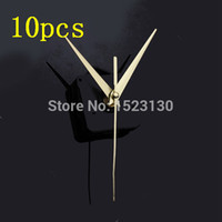 Wholesale New High Quality Gold Hands DIY Quartz Black Wall Clock Movement Mechanism Repair Parts Silent