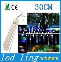 christmas lights and decorations - 2016 Christmas Decoration CM Shower Rain Meteor Tubes waterproof LED Light For Party Wedding Garden Decoration AC V EU and EU Plug