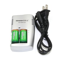 Wholesale 2pcs Etinesan v v mAh CR123A A Rechargeable Li ion Battery charger set for Camera flashlight
