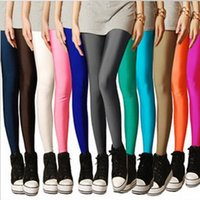 Wholesale 2014 Plus Size Candy Color Women s High Stretched Yoga Autumn Summer Best Selling Neon Leggings