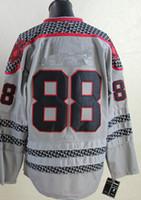Wholesale 2015 New Hockey Jerseys Jersey Charcoal Cross Check Fashion Jersey Gray size Mix Order Stitched
