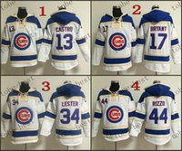 Wholesale Chicago Cubs Starlin Castro Red Hooded Sweatshirt Hockey Jackets New Style All Teams Outdoor Uniform size