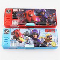 big pencil cases for boys - Big Hero Pencil Case Plastic Pencil box Children multifunction Stationery for girl and boy