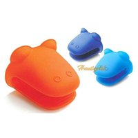 Wholesale Heat Insulation Glove Baking Cooking Hippo Mode Kitchen Kit Heatproof Glove New