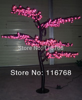 Cheap 1.5M High Quality Outdoor Lighting Pink LED Christmas Bonsai Cherry Tree Lights