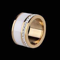 Joyería fina de los hombres de la joyería de los hombres Alta pulido Signet Anillo de acero cristalino sólido del anillo 316L del acero inoxidable del titanio sólido