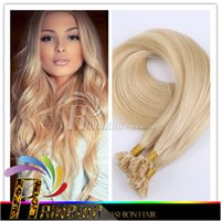 Wholesale U tip Hair Extensions Brazilian Straight hair Remy Hair Virgin g Italian Keratin Nail Tip Hair extensions s Black