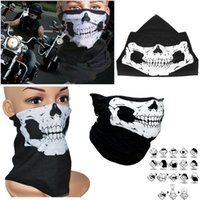 Wholesale New Motorcycle skull face mask scarf ski snowboard bike scooter face protective helmet neck warm outdoors motorbike cycling mask