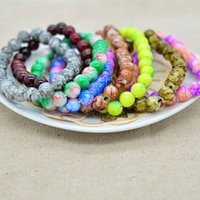 Wholesale Charm Bracelets For Women Lady Girls Men Colorful Beads Bracelet DIY Crystal Strands Retro Charms Bangle Body Jewelry mixed Color