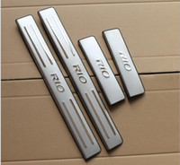 Wholesale high quality KIA RIO K2 stainless steel door sill plate door sill scuff plate threshold set