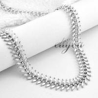 Bijoux 13mm Nouveau Mode Hommes Femmes en or blanc 18K Rempli Chain Link Necklace Centipede bijoux en or Livraison gratuite C04 WN