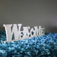 area movie - New Arrival White WELCOME and LOVE Styles Wedding Reception Table Welcome Area Decorative Ornaments Supplies