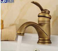 Wholesale European archaize do old undercounter basin faucet pure copper brass hot and cold all the copper double the single hole restoring ancient wa