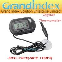 Wholesale water proof Aquarium Digital Thermometer ST Between Centigrade and Fahrenheit Temperature C C F F