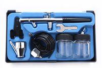 airbrush car painting - Set mm Spray cc cc Dual Action Airbrush HD air brush Kit Gun Makeup Tool body Paint Nail car Art Tattoo