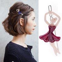 ballet dance clips - Ballet dancing girl hairpin hair accessories FS00441