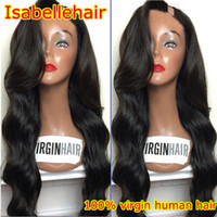 Wholesale Fashion Left Part Brazilian U Part Wig Human Hair Grade A Body Wave Unprocessed Upart Wig Virgin Hair For Black Women
