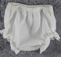 Wholesale Baby white cotton blank diaper covers lace baby bloomer DIY Infant baby girls summer shorts