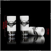 bear skulls - Newest Skull Printed Style Drip Tips Ceramic Wide Bore Drip Tip EGO E Cigarettes Atomizer Mouthpieces for RDA Atomizer DHL Free