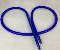 arabia tube - colorful blue arabia water smoking pipe hookah silicone hose hookah tube good accessories